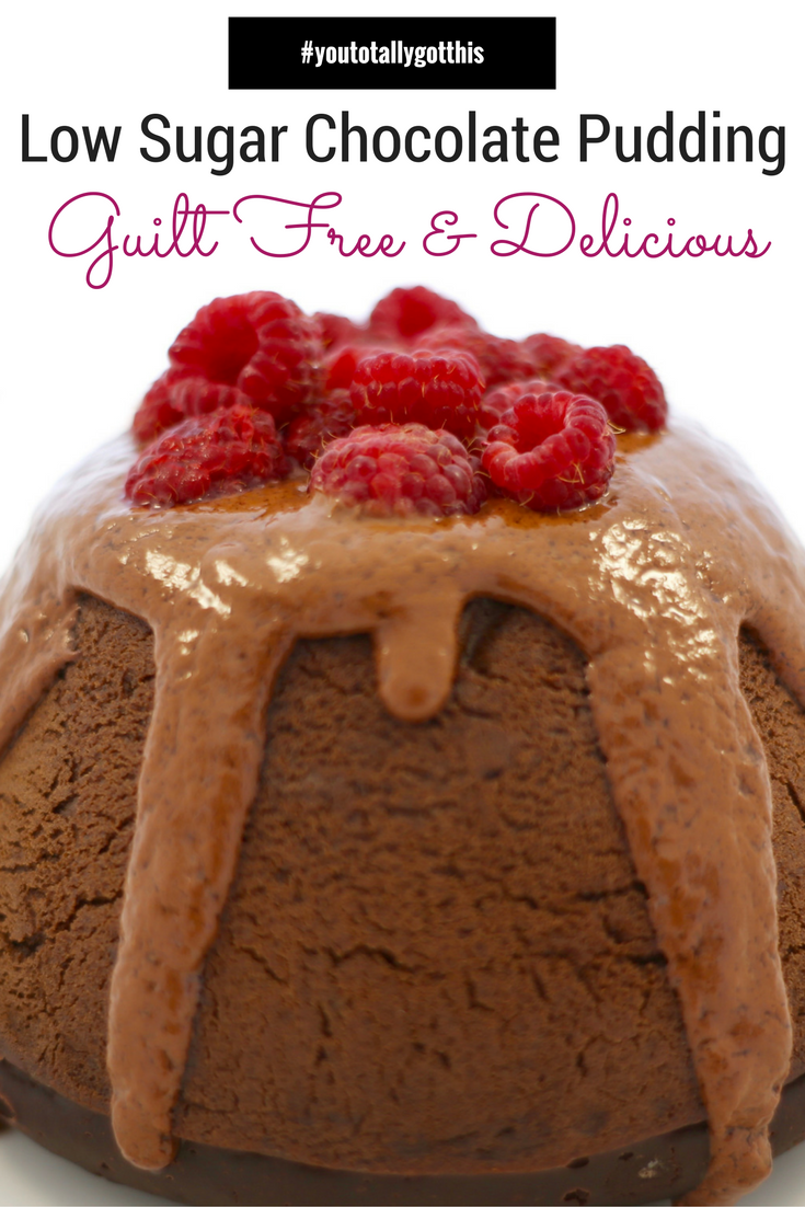 If you are looking for a guilt free treat this chelate pudding is for you. It is low in sugar, decadent and delicious | http://www.youtotallygotthis.com/guilt-free-easter-chocolate-pudding/ #healthytreat #sugarfree #chocolate