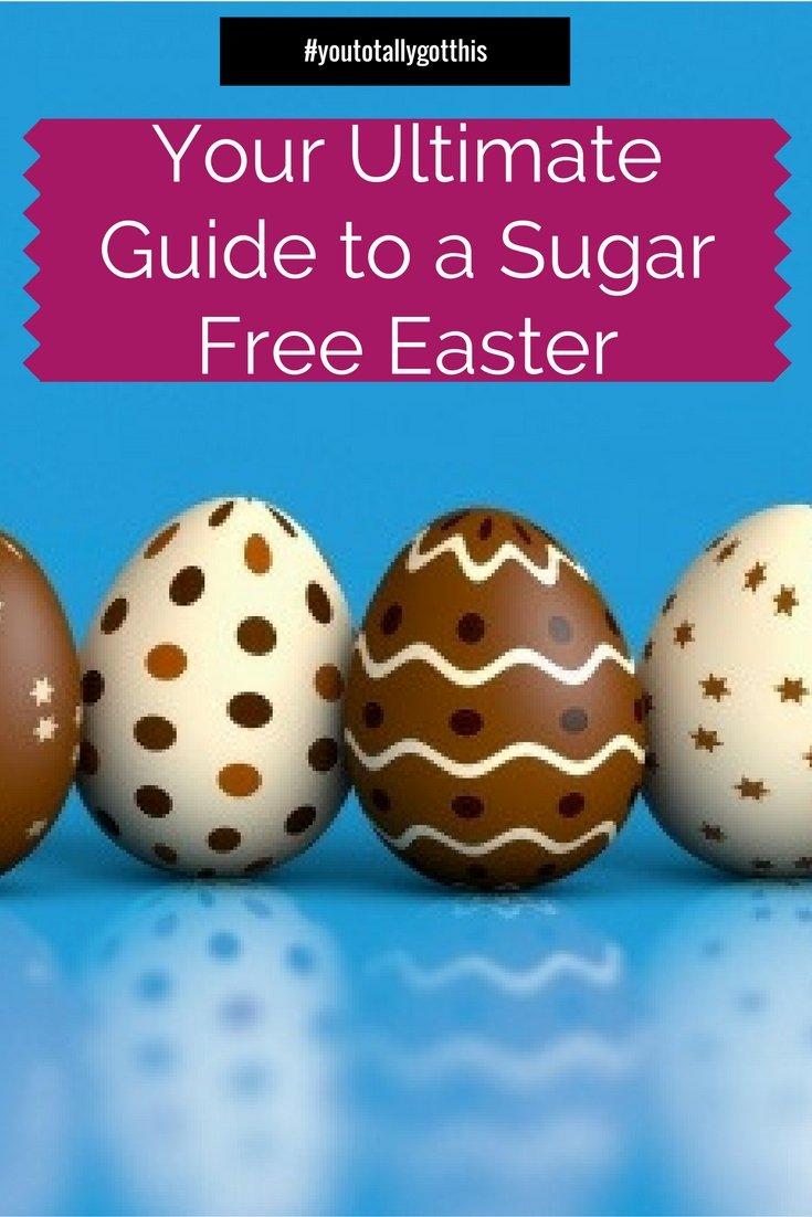 Want Easter without the guilt this year? Check out my ultimate guide to a sugar free Easter. P.S It can still be YUM! | http://www.youtotallygotthis.com/your-ultimate-sugar-free-easter-survival-guide/