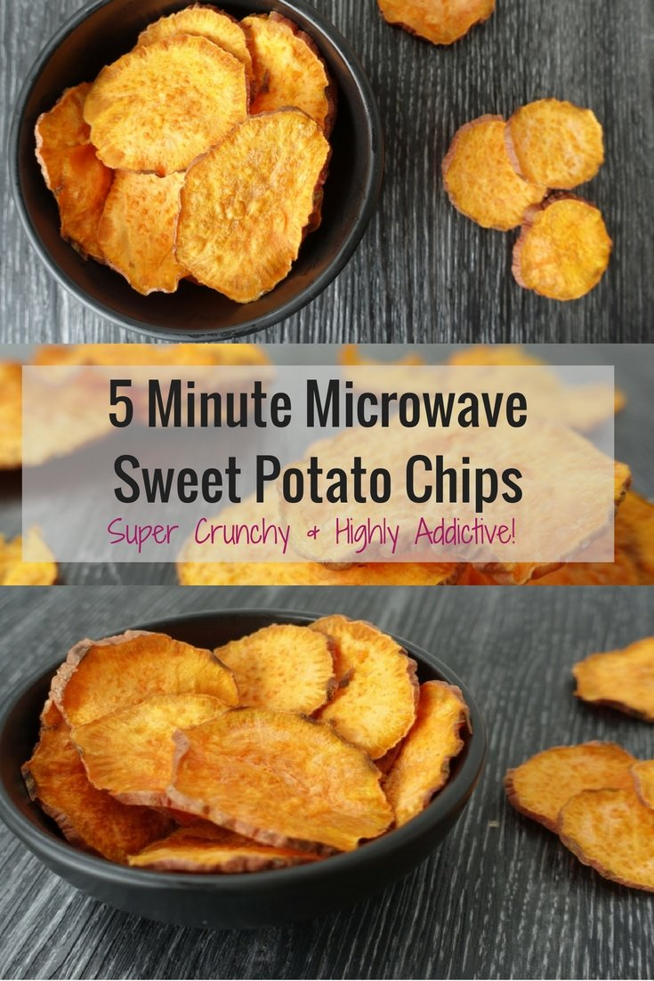 5 Minute Microwave Sweet potato Chips. get the recipe here | #healthy #recipe