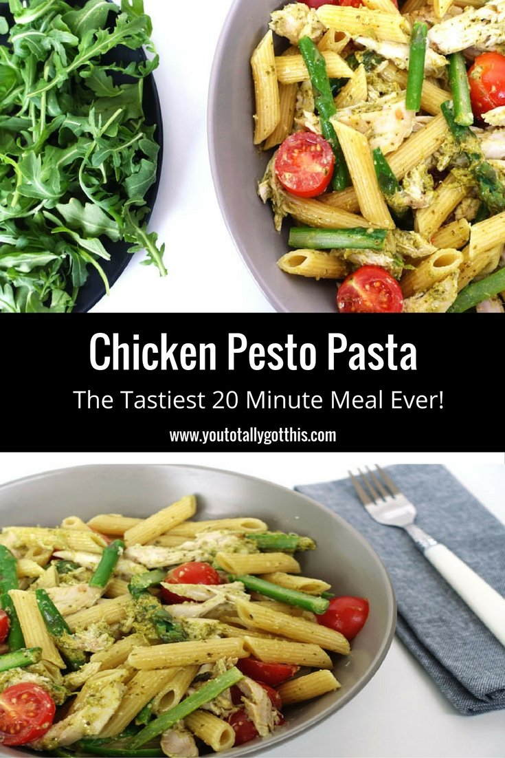 Chicken Pesto Pasta - The Tastiest 20 Minute Meal Ever