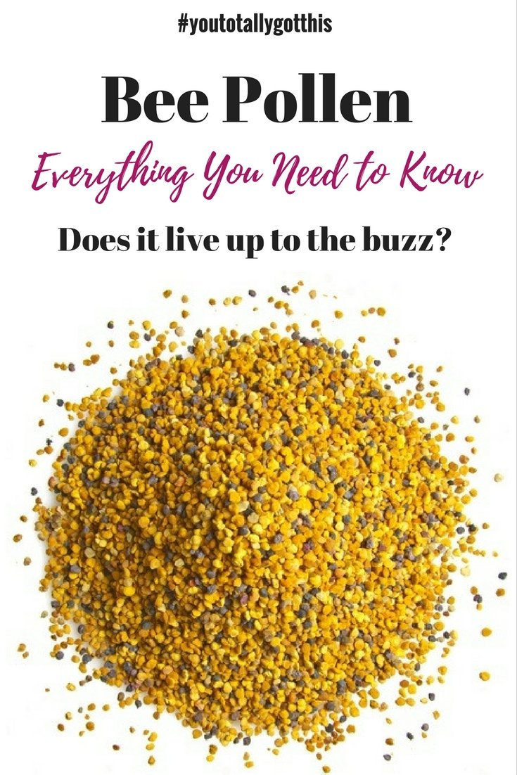 Bee pollen is the latest superfood everyone is buzzing about. But what is it, and should you be eating it? Find out here | https://www.youtotallygotthis.com/bee-pollen-does-it-live-up-to-the-buzz/ | #beepollen #superfood