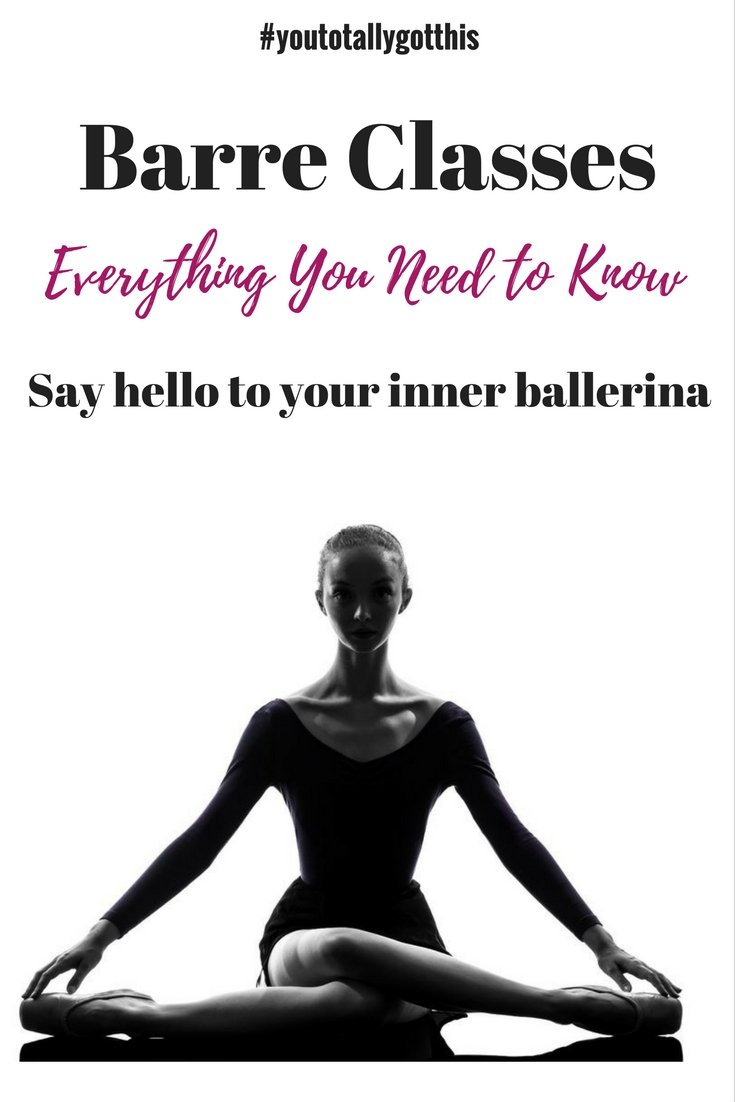 Curious about what happens in a barre class? We tell you everything to know about this knew ballet inspired exercise trend | https://www.youtotallygotthis.com/?s=barre| #barre #exercise #health