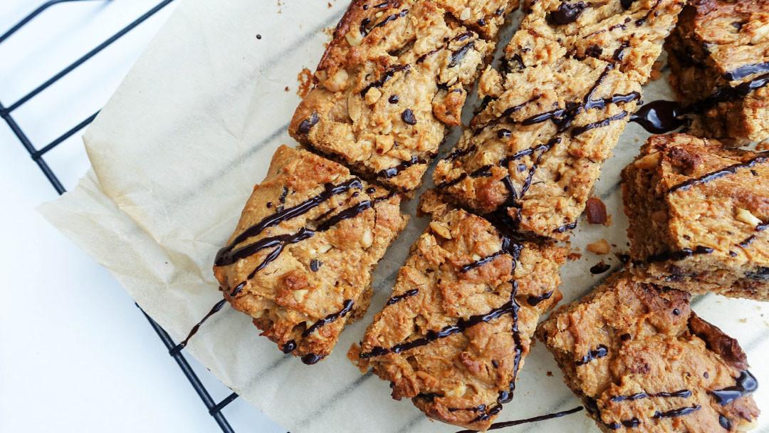 Peanut Butter Chocolate Blondies – Gluten Free, Dairy Free, Low Sugar