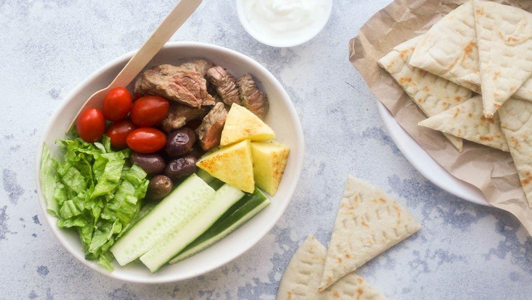 Lamb Souvlaki Bowl - You Totally Got This - Quick & Easy Dinner Recipes