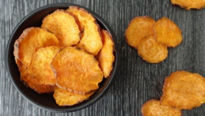 Microwave Sweet Potato Chips - You Totally Got This - Quick & Easy Recipe