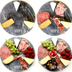 Step by step guide to making a party platter