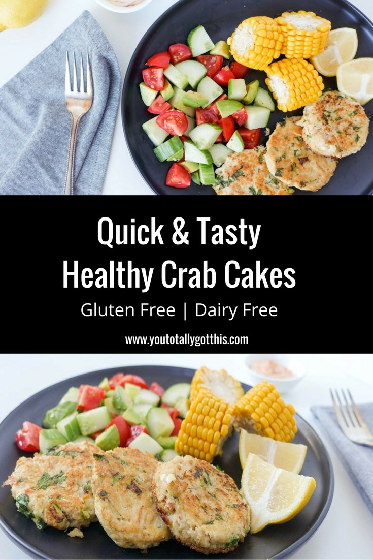 Quick & Tasty Healthy Crab Cakes Gluten Free & Dairy Free
