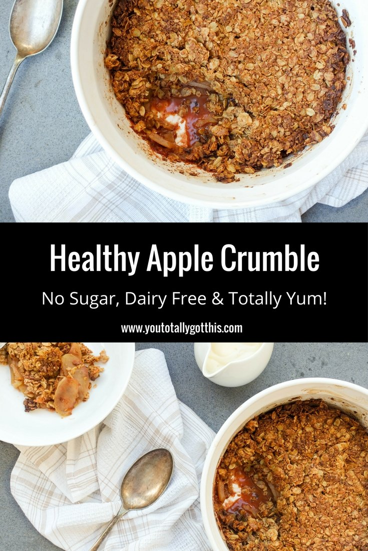 Healthy Apple Crumble - Sugar Free & Dairy Free