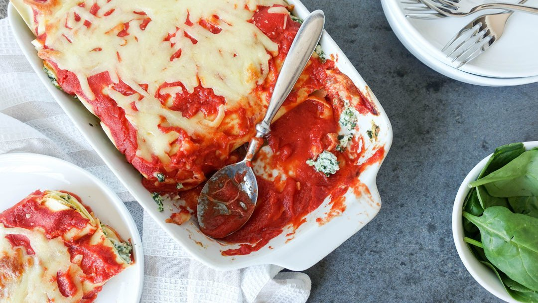 Spinach & Ricotta Cannelloni – The Quickest & Easiest Cannelloni Recipe EVER!