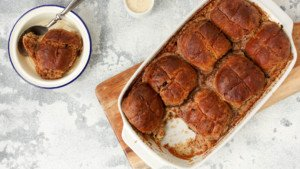 Hot Cross Bun Pudding - You Totally Got This - Quick & Easy Recipe