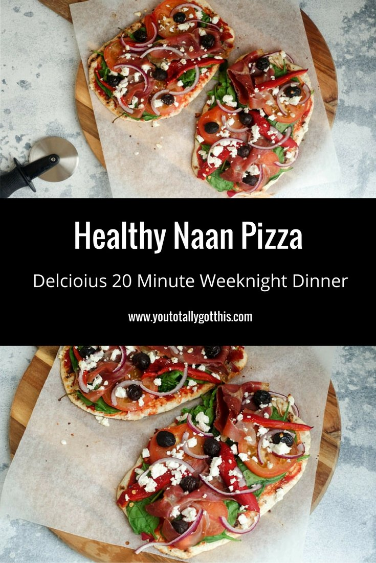 Healthy Naan Pizza