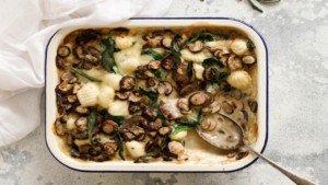 Creamy Mushroom Baked Gnocchi Recipe - You Totally Got This - Quick & Easy Recipe