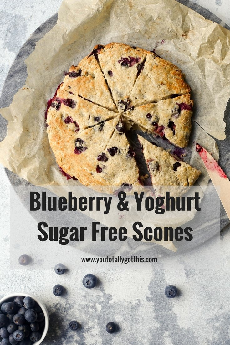 Blueberry & Yoghurt Sugar Free Scones