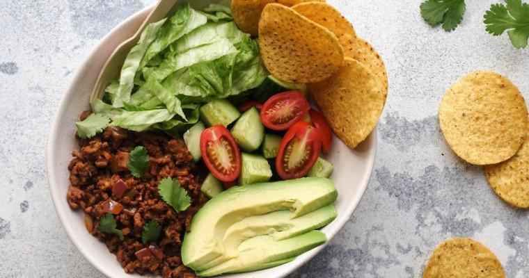 Cheesy Beef Taco Bowls Recipe – Delish 15 Minute Dinner!