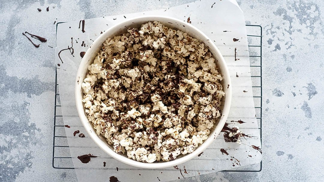 Salted Dark Chocolate Popcorn - You Totally Got This - Quick & Easy Recipe