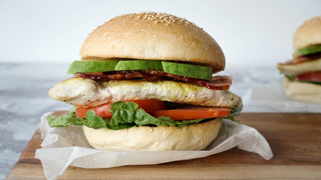 Chicken Club Burger - You Totally Got This - Quick & Easy Recipe
