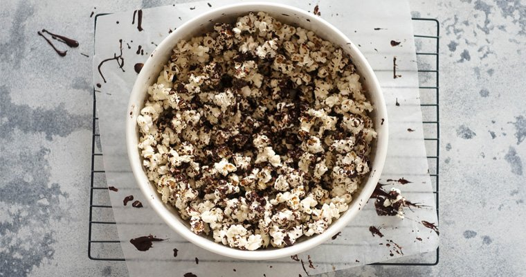Salted Dark Chocolate Popcorn - Last Minute Party Snacks - You Totally Got This