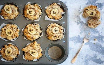 Easy Apple + Banana Sugar Free Muffins
