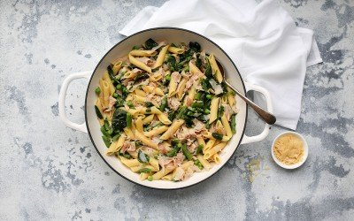 Ham and Asparagus Pasta – Easy 15 Minute Dinner
