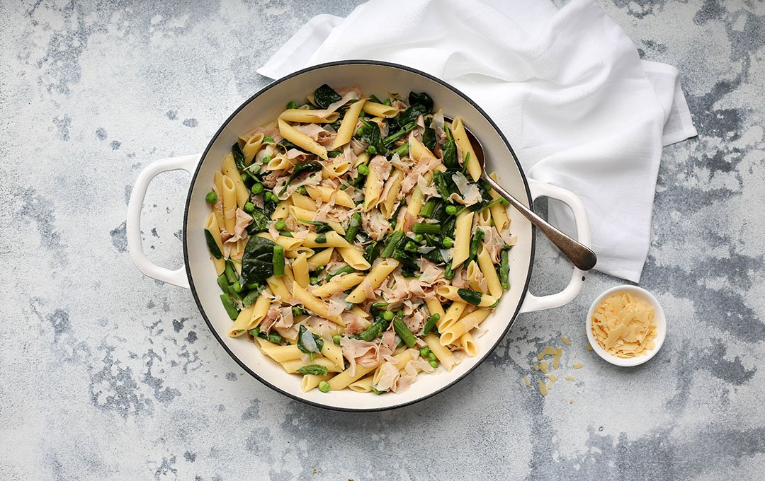Ham and Asparagus Pasta - You Totally Got This - Quick and Easy Dinner Recipe