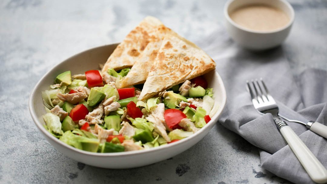 Chopped Chicken + Quesadilla Salad - You Totally Got This - Quick & Easy Recipes