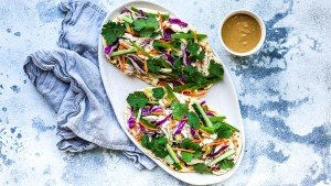 Chicken Satay Salad Flatbread - You Totally Got This - Quick & Easy Dinner Recipes