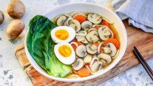 Quick Mushroom Ramen - You Totally Got Thus - Quick and Easy Dinner Recipe