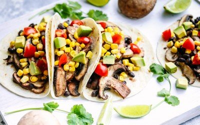 Mushroom & Black Bean Tacos – 15 Minute Dinner Recipe