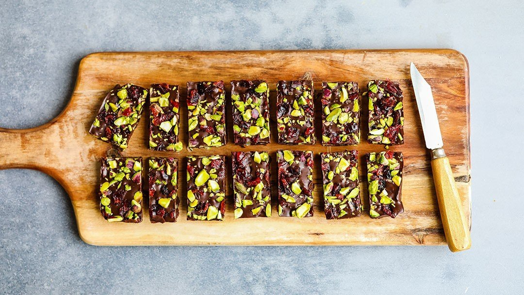 Easy Cranberry and Pistachio Fudge